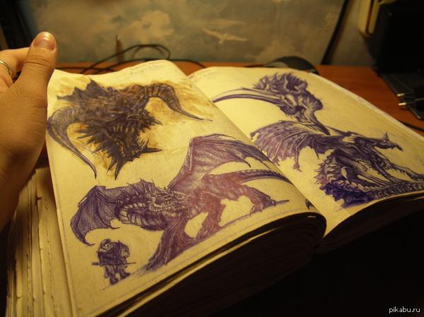 Портянка. Еще в далеких 2005-2006 годах мне захотелось смастерить себе свою тетрадь. На данный момент там больше трехсот страниц.  Фото, творчество, арт, рисунок