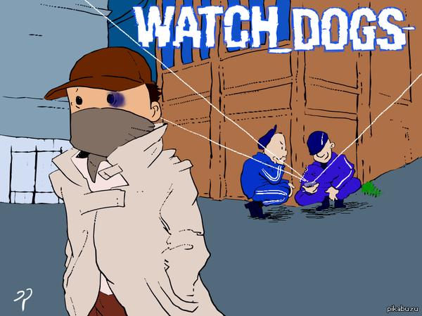 Watch_Dogs Фан-арт  Watch_Dogs, арт, Компьютерные игры