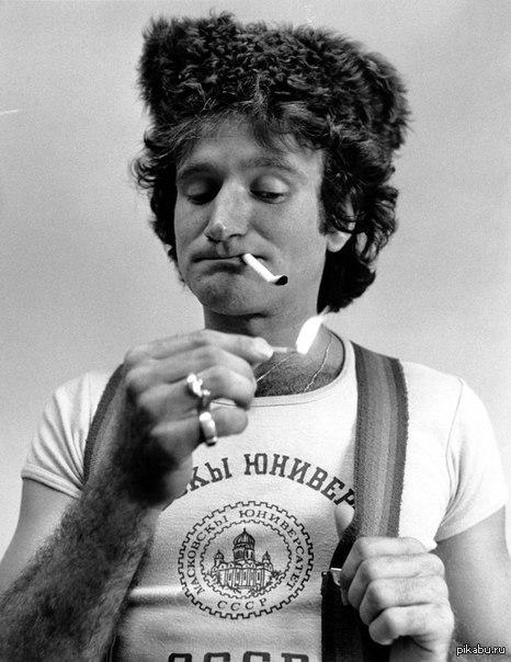 Робин Уильямс, 1977 год.   Робин Уильямс, редкое фото, молодость