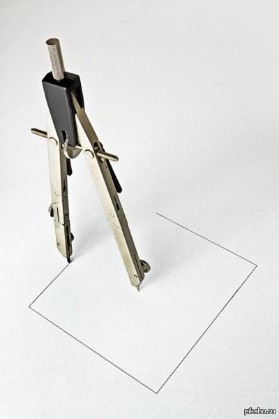 если человек рисует квадраты: