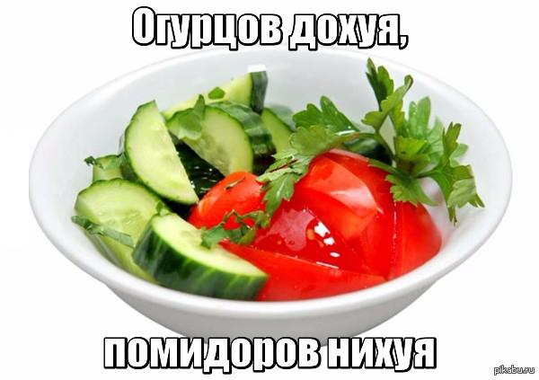 Фото салата из свежих огурцов и помидоров