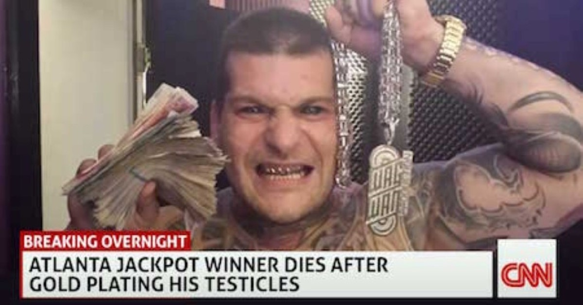 Победитель лотереи в Атланте скончался после попытки нанесения позолоты на свои яйца