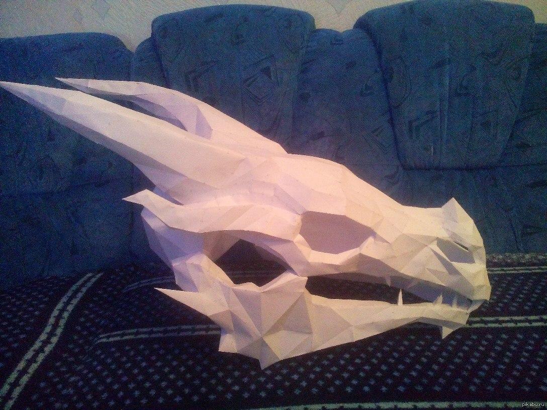 схема дракона оригами 3д