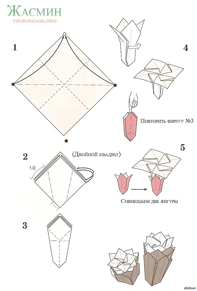 Цветы оригами из бумаги своими руками схемы поэтапно тюльпан