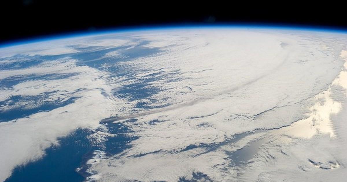 фото из космоса на извержение вулкана